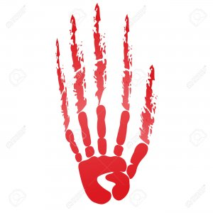 23774544 popular scream red bloody handprints halloween isolated on white Stock Photo 300x300 - Grote Halloween Spooktocht in Breukelentuin Reeshof voor alle bewoners